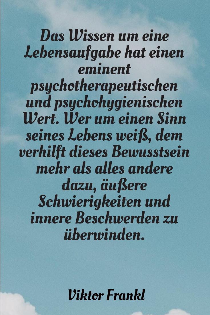 Das Wissen um eine Lebensaufgabe, V. Frankl - Gestaltung: privat
