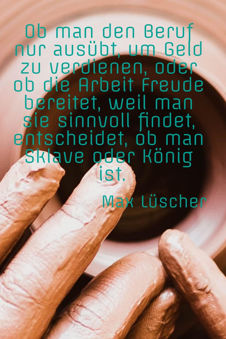 Ob man den Beruf nur ausübt, M. Lüscher - Gestaltung: privat