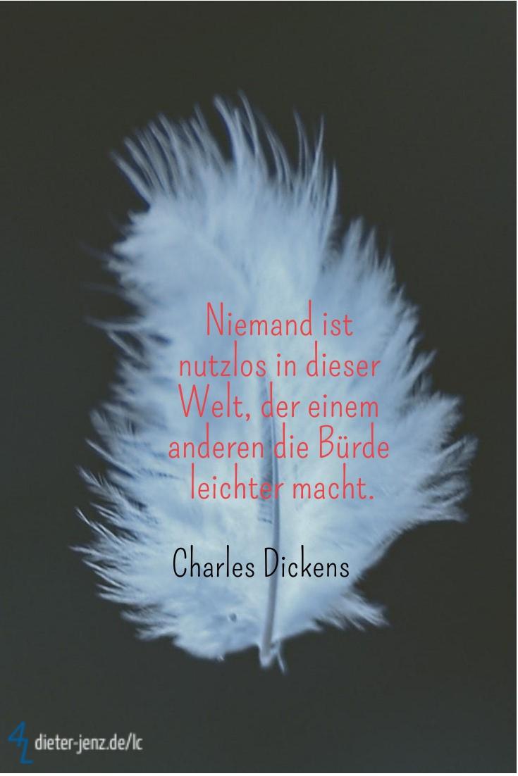 Niemand ist nutzlos in dieser Welt, C. Dickens - Gestaltung: privat