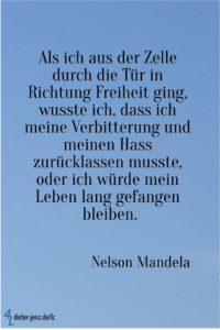 Als ich aus der Zelle, N. Mandela - Gestaltung: privat