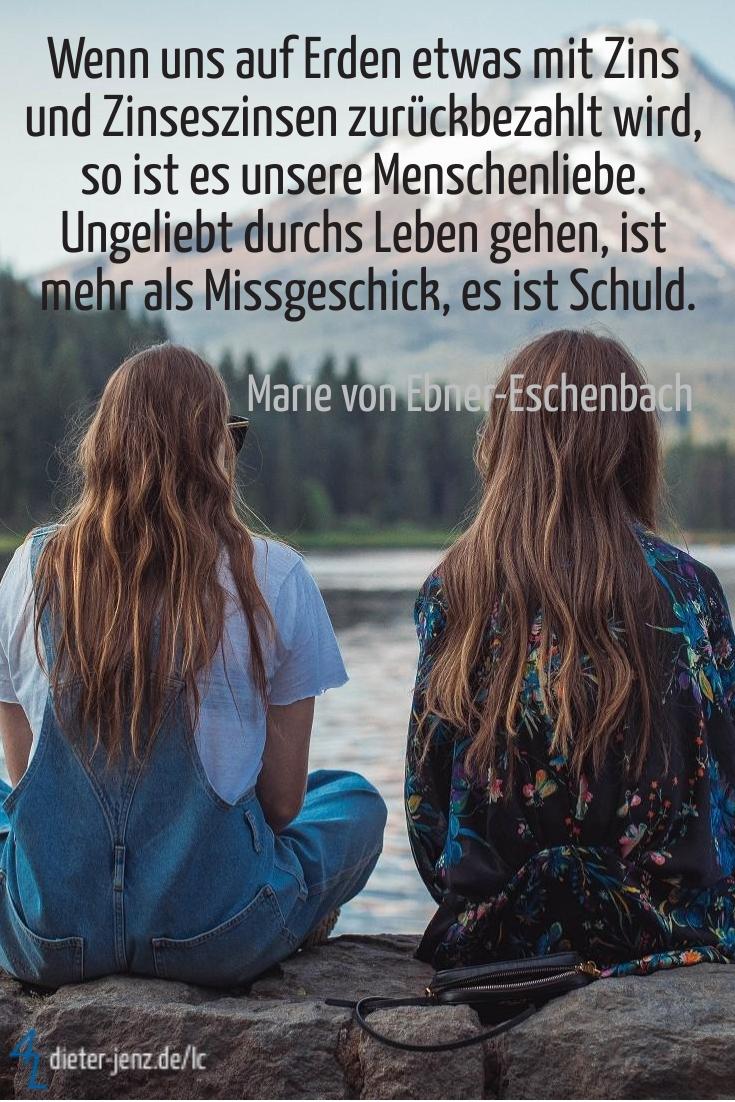 Wenn uns auf Erden etwas, M. v. Ebner-Eschenbach - Gestaltung: privat