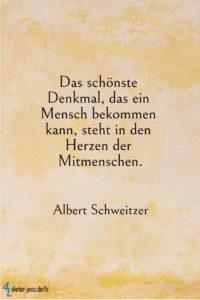 Das schönste Denkmal, A. Schweitzer - Gestaltung: privat