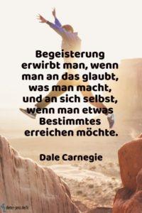 Begeisterung erwirbt man, D. Carnegie - Gestaltung: privat