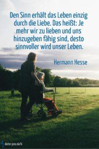 Den Sinn erhält das Leben, H. Hesse - Gestaltung: privat