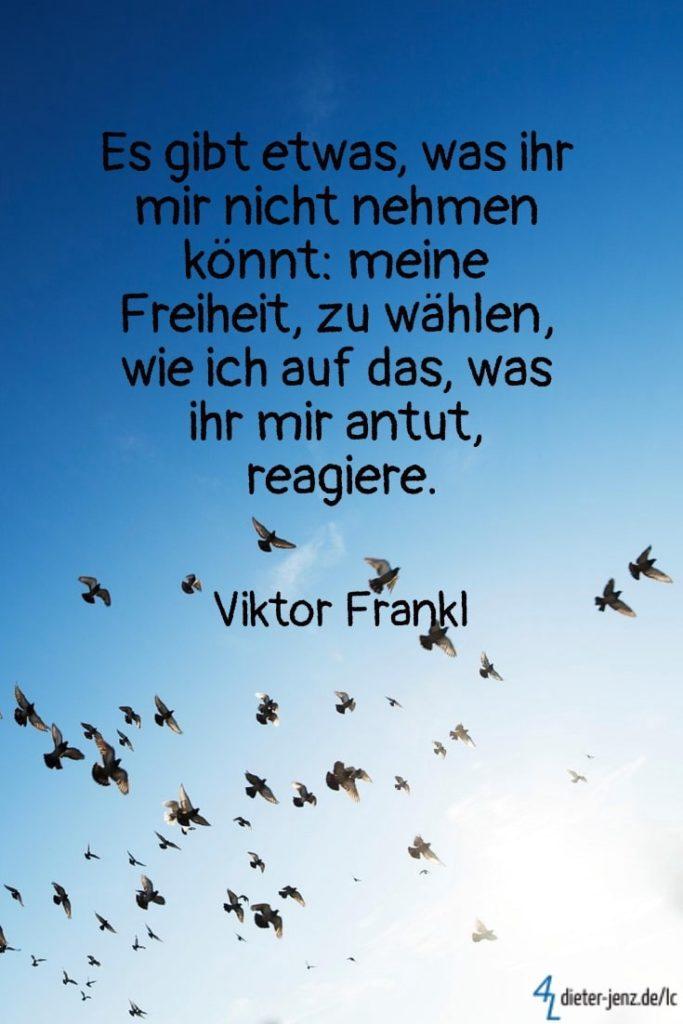 Es gibt etwas, was ihr mir nicht nehmen: meine Freiheit,  V. Frankl - Gestaltung: privat