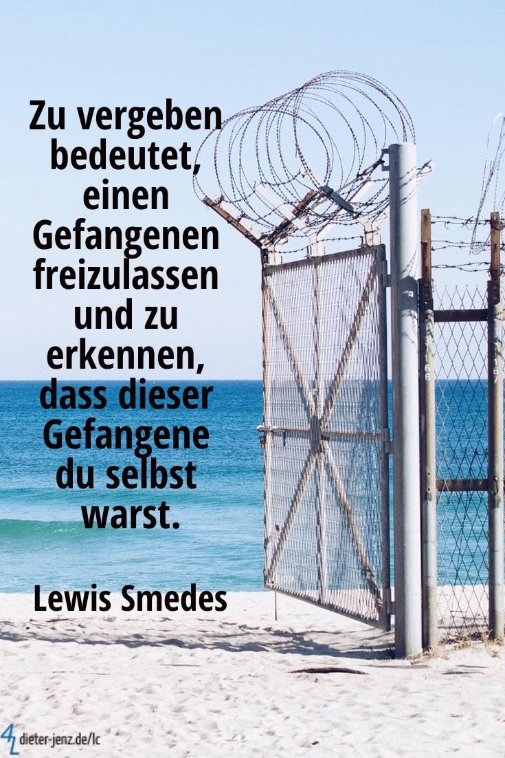 Zu vergeben bedeutet, einen Gefangenen, L. Smedes - Gestaltung: privat