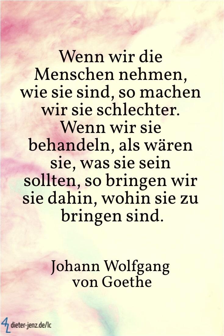 Wenn wir die Menschen nehmen, J.W. v. Goethe - Gestaltung: privat