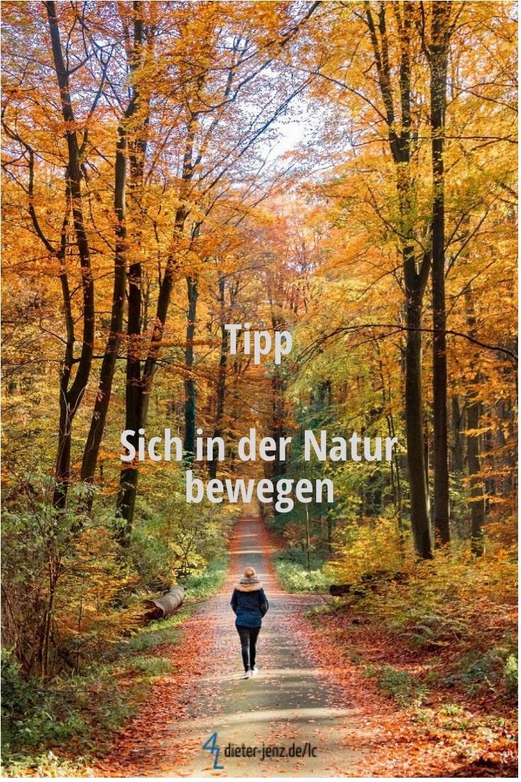 Tipp: Sich in der Natur bewegen - Gestaltung: privat