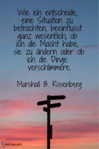 Wie ich entscheide, eine Situation zu betrachten, M. Rosenberg - Gestaltung: privat