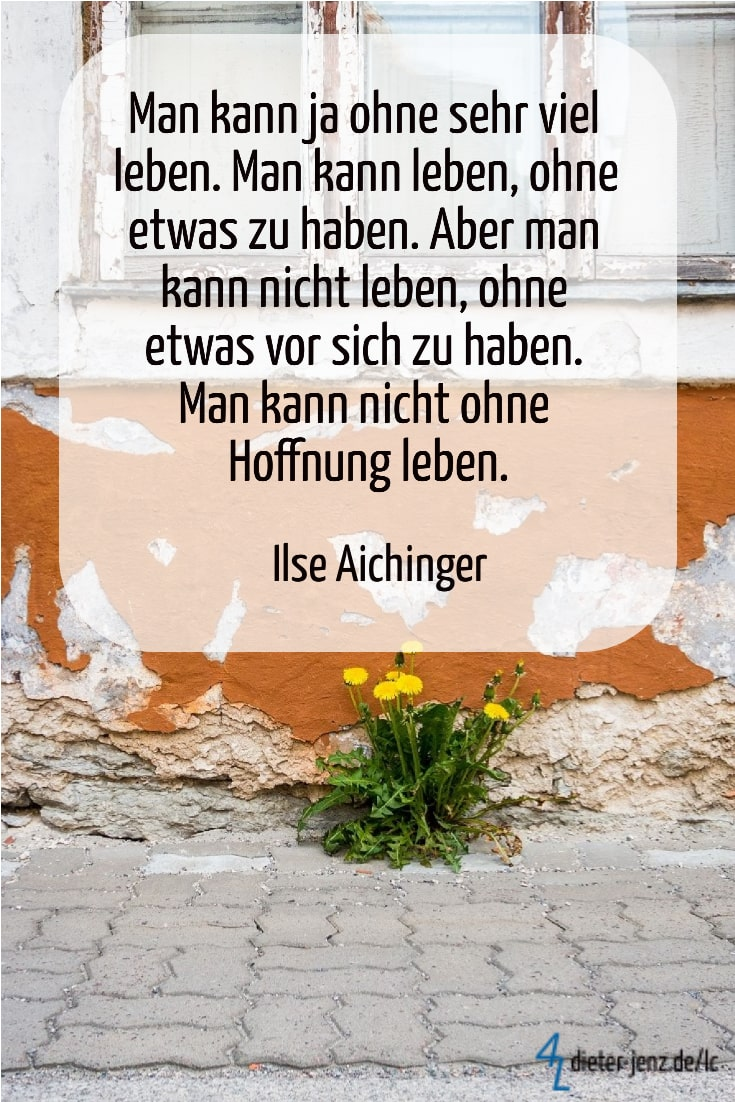 Man kann ja ohne sehr viel leben, I. Aichinger - Gestaltung privat