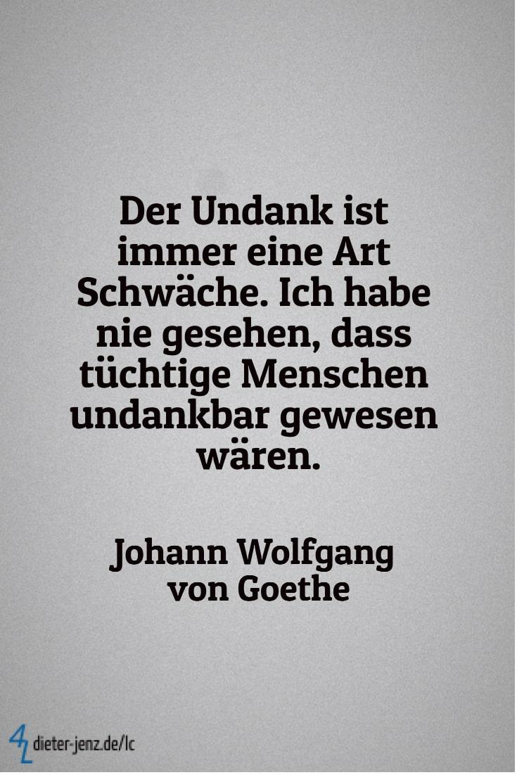 Der Undank ist immer eine Art Schwäche, J.W. v. Goethe - Gestaltung: privat