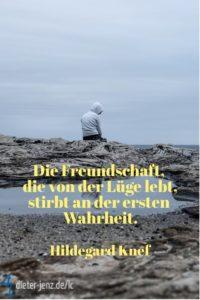 Die Freundschaft, die von der Lüge lebt, H. Knef - Gestaltung: privat